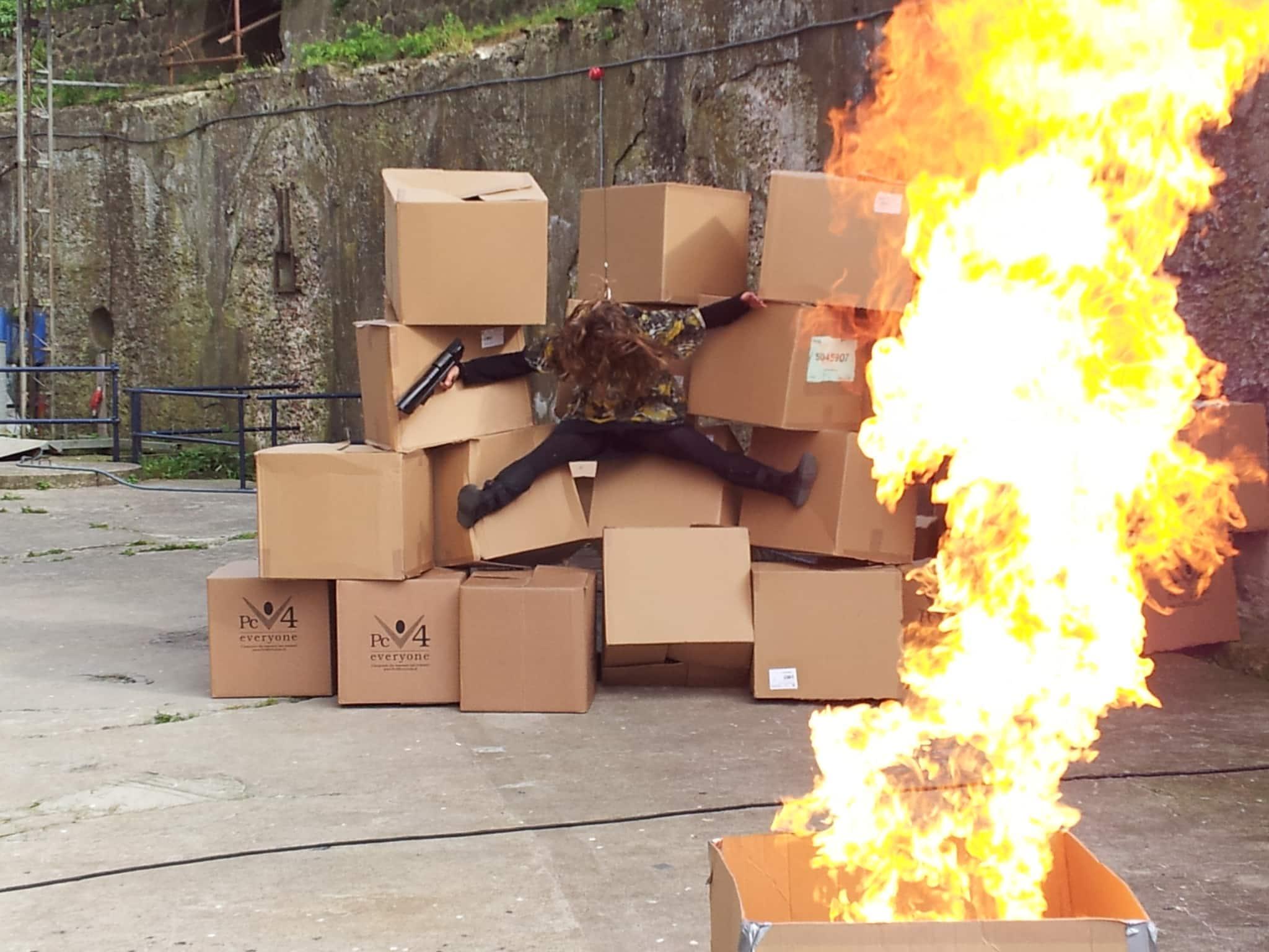 Deze ratchetstunt door ons stuntteam icm een explosie.